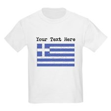 Greece Flag (Distressed) T-Shirt