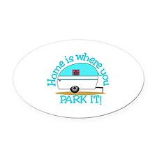 Park It Oval Car Magnet
