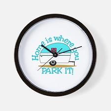 Park It Wall Clock