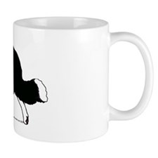 Border Collie Line Art Striding Mug