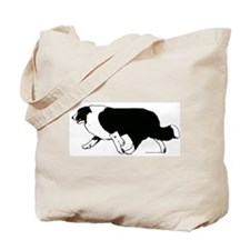 Border Collie Line Art Striding Tote Bag