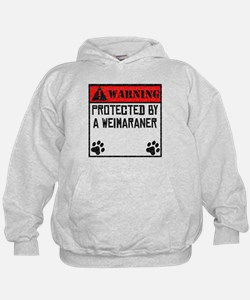 Protected By A Weimaraner Hoodie
