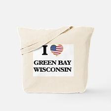 I love Green Bay Wisconsin Tote Bag
