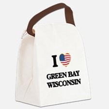 I love Green Bay Wisconsin Canvas Lunch Bag