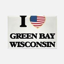 I love Green Bay Wisconsin Magnets