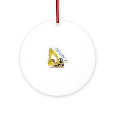 Diggin It Ornament (Round)