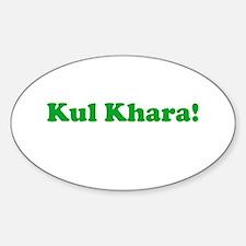 Kul Khara Oval Decal