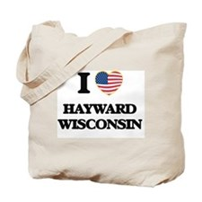 I love Hayward Wisconsin Tote Bag