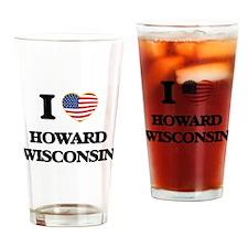 I love Howard Wisconsin Drinking Glass