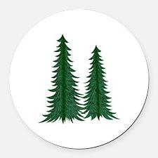 Trees Round Car Magnet