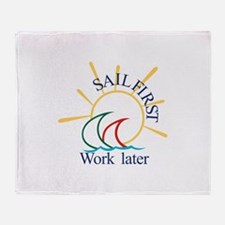 Sail First Throw Blanket