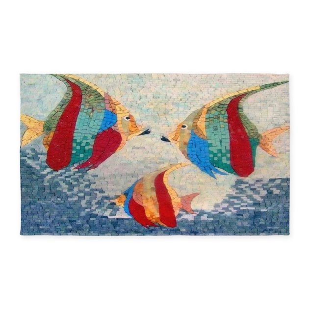Angel fish area rug by sportsmanhill for Fish area rug