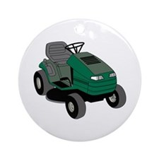 Lawnmower Ornament (Round)