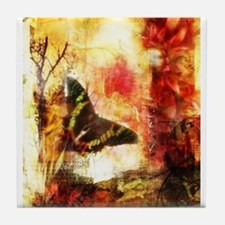 Autum Butterfly Tile Coaster