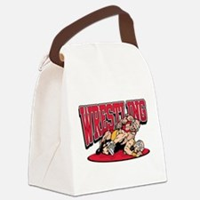 Wrestling Takedown Canvas Lunch Bag