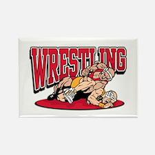 Wrestling Takedown Rectangle Magnet