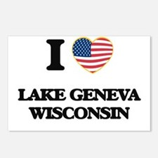 I love Lake Geneva Wiscon Postcards (Package of 8)
