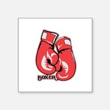 "Boxing Gloves Square Sticker 3"" x 3"""
