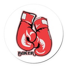 Boxing Gloves Round Car Magnet