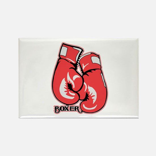 Boxing Gloves Rectangle Magnet