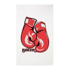 Boxing Gloves Area Rug