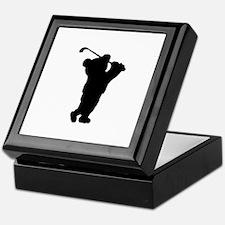 Golf Teddy Bear Keepsake Box