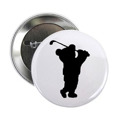 "Golf Teddy Bear 2.25"" Button (100 pack)"