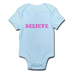 Twisted Imp Believe (Pink) Infant Bodysuit