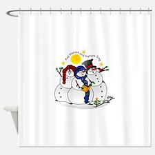 Snowmen Caroling Shower Curtain