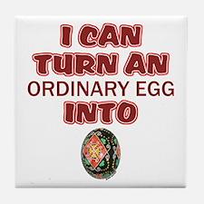 Ordinary Egg into Pysanka Tile Coaster