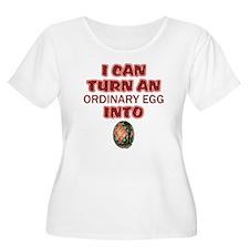 Ordinary Egg into Pysanka Women's Plus T-Shirt