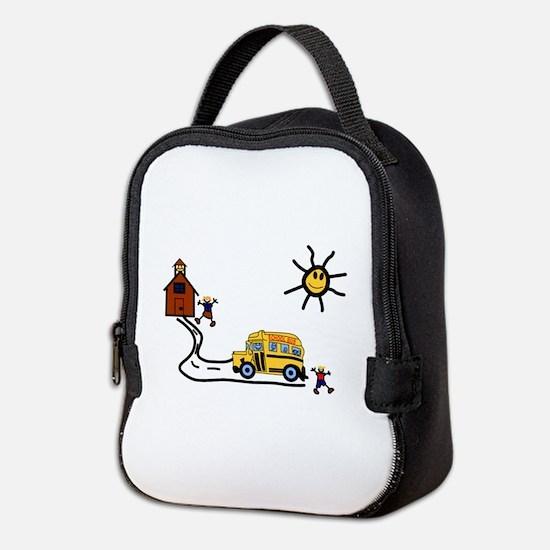 School Scene Neoprene Lunch Bag