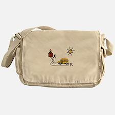 School Scene Messenger Bag