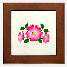 Prairie Rose Framed Tile