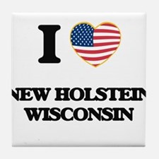 I love New Holstein Wisconsin Tile Coaster