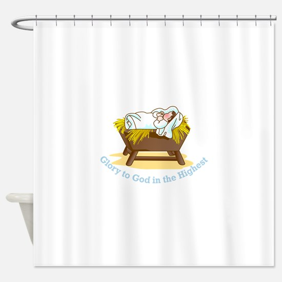 Glory to God Shower Curtain