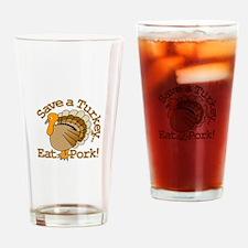 Save a Turkey Drinking Glass