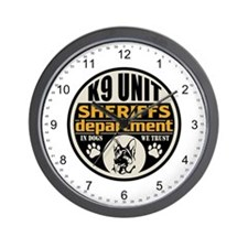 K9 In Dogs We Trust Sheriffs Department Wall Clock