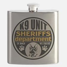 K9 In Dogs We Trust Sheriffs Department Flask
