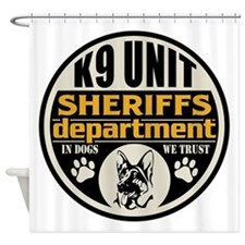 K9 In Dogs We Trust Sheriffs Depart Shower Curtain