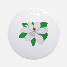 Magnolia Ornament (Round)