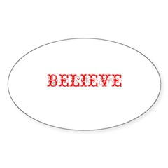 Twisted Imp Believe (Red) Oval Decal