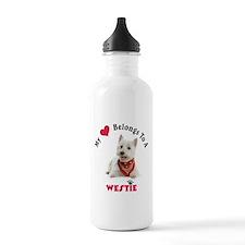 My Heart Belongs To A Westie Water Bottle