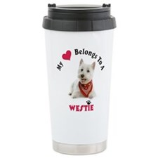My Heart Belongs To A Westie Travel Mug