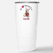 My Heart Belongs To A Westie Travel Mug