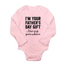 Father's Day Gift Long Sleeve Infant Body Suit