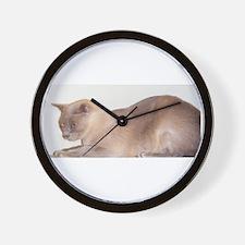 Lilac Burmese Cat Wall Clock