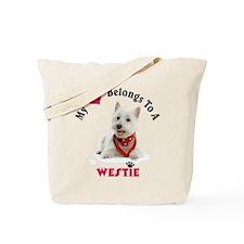 My Heart Belongs To A Westie Tote Bag