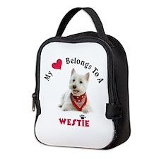 My Heart Belongs To A Westie Neoprene Lunch Bag