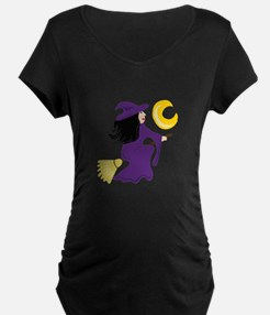 Flying Witch Maternity T-Shirt